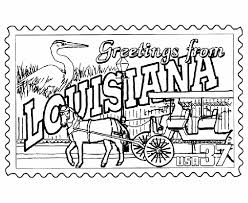 Small Picture USA Printables Louisiana State Stamp US States Coloring Pages