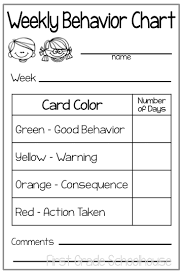 First Grade Schoolhouse Behavior Charts And Parent