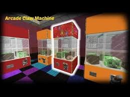 Minecraft How To Make A Vending Machine Best Minecraft How To Make An Arcade Claw Machine YouTube Block