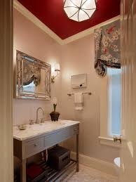 powder room furniture. Elegant Powder Room With Red Ceiling Furniture