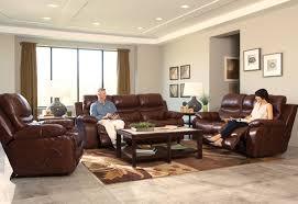 catnapper patton top grain italian leather lay flat power reclining sofa set walnut