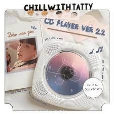 Máy chạy đĩa CD Player version 2.2 bản sạc pin mới nhất - máy đọc đĩa CD,  DVD, nghe nhạc Bluetooth, - Loa