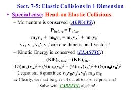 7 5 elastic collisions in 1 dimension