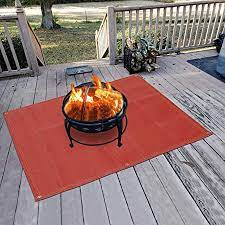 Amazon Com Fire Pit Mat Silicone Stove Fire Mat Retardant Fireproof Heat Resistant Ember Mat And Grill Mat Under The Stove Protect Your Deck Terrace Lawn Or Campground From Embers Washable 48 28 Home Improvement