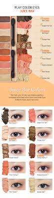Eyeshadow Color Combination Chart Play Color Eyes Juice Bar