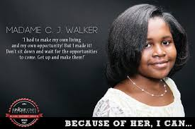 Madam Cj Walker Quotes Awesome Madame Cj Walker Madam Cj Walker Because Of Them We Can 48