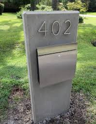 Mid Century Modern Mailboxes Mailbox Post Designs Pertaining To