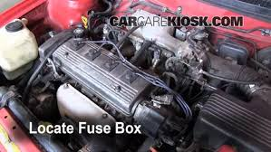 replace a fuse 1993 1997 toyota corolla 1996 toyota corolla 1 6 locate engine fuse box and remove cover
