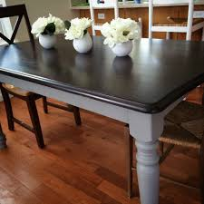 diy chalk paint dining table legs black distressed and chairs end