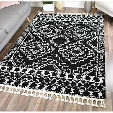 agra black white area rug joss main