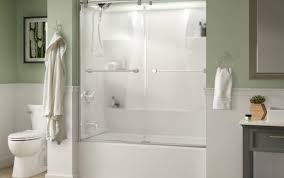 sowerby coastal delta hebde for parts home tubs shower shelby sliding contemporary ove doors composite