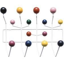 Eames Coat Rack Walnut Vitra Eames Hang it All coat rack multicolour 79