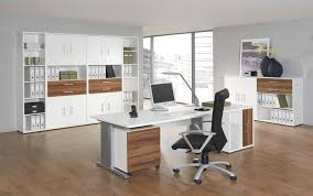 home office white. Furniture: Captivating White Home Office Furniture With Wooden Floor And Large File Cabinet -