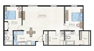 Floor Plan 2 Bedroom Apartment