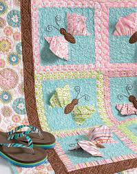 5 hot trends from Spring Quilt Market 2014 - Stitch This! The ... & Butterfly Kisses quilt from Cute Quilts for Kids Adamdwight.com