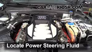replace a fuse 2008 2016 audi s5 2008 audi s5 4 2l v8 follow these steps to add power steering fluid to a audi s5 2008 2016