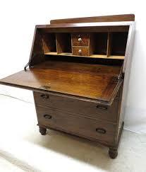 antique art deco tiger oak drop front desk by harmonygroveantiquez