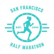 Half Marathon T Shirt Designs Half Marathon Vintage Logo Badge T Shirt Design With