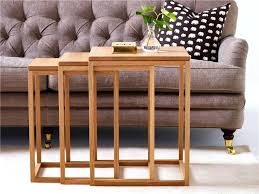 trio coffee table contemporary nesting tables oak walnut beech coffee tables trio furniture trio coffee table