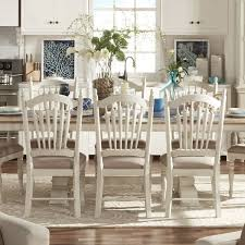 room chairs mckay country antique white slat back dining chair set of 2 by inspire q