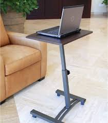 portable laptop desk cart mobile notebook stand rolling computer table wheels sevilleclassics