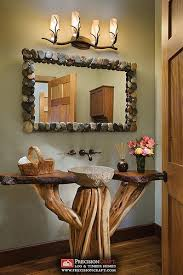 mirror with stones around it i think i could make this bathroom vanity barnwood mirror oyster pendant lights