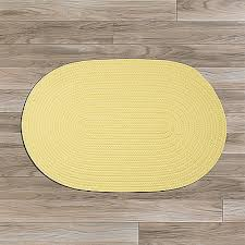 details about bristol yellow braided area rug runner by colonial mills many sizes
