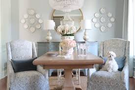 reveal dining room makeover pale blue table surface