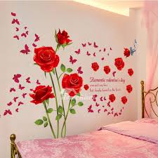 adhesive wall stickers flower letter