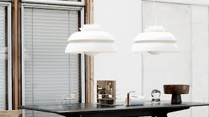 hansen lighting services. concert lamp in white, designed by jørn utzon hansen lighting services o