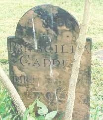 Priscilla Gaddis (Bowen) (1718 - 1796) - Genealogy