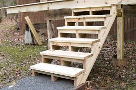 building and installing deck stairs professional deck builder building codes staircases decks