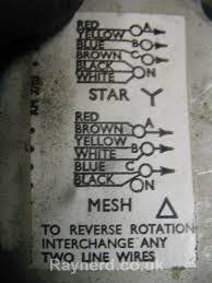 wiring brook crompton 3 phase motor to delta