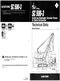 Crawler Cranes Sumitomo Specifications Cranemarket