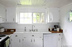 white country kitchen with butcher block. Country Kitchen With DIY Reclaimed Wood Countertop Off White Cabinets Countertops Butcher Block A