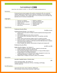 13 Security Guard Resume Mla Cover Page