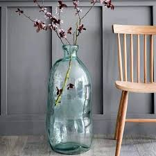 giant glass vases for the floor recycled clear tall bubble glass vase giant glass floor vases