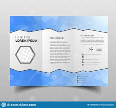 Presentation Trifold Brochure Design Template Polygonal Tri Fold Abstract Triangles