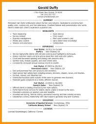 Resume Hair Stylist Hair Stylist Resume Hair Stylist Resume Salon Spa Templates Template