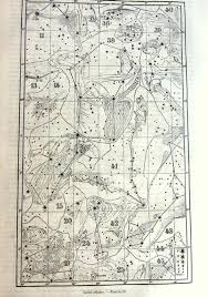 Pegasus Star Chart Antique Stars Chart Print 1865 Original Vintage