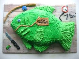 Fishing Birthday Cake Ideas Fish Design Best Cakes Ideas