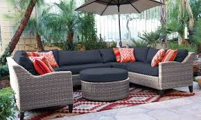 Oahu Outdoor Sectional Sofa with Ottoman