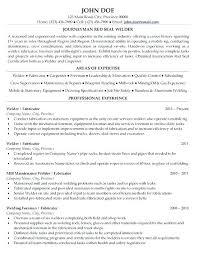 Welder Resume Examples Canadianlevitra Com