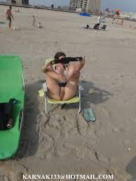 Voyeur Naughty Pussy Flashing On Beach High Quality Porn Pic voyeur