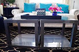 Two IKEA end tables become a coffee table