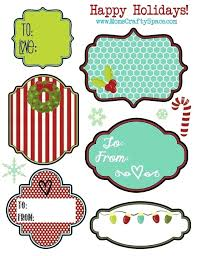 Gift Tag Label Templates For Google Slides Free Xmas Tags