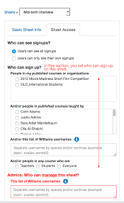 Create Sign Up Sheet How Do I Create A New Signup Sheet Office For Information Technology