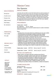 Bus operator resume, job description, example, template, driving, lorry,  road safety