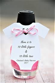 *Baby MINI Onesie ~ Tag Only ~ Here is to 10 little fingers & 10 little  toes ~ baby shower ~ hand sanitizer thank you ~ onesie gift tags ~ 10 tags