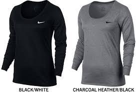 Nike Dri Fit Long Sleeve Size Chart Nike Dri Fit Legend Womens Long Sleeve Training T Shirt